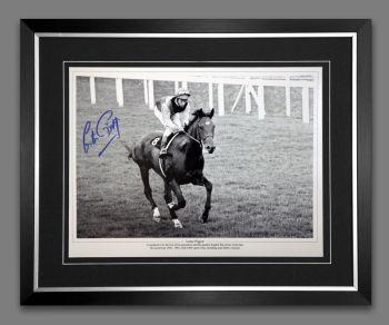 Lester Piggott And Nijinsky Signed And Framed Horse Racing  Photograph : C