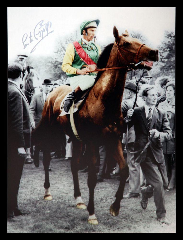 Lester Piggott And Nijinsky Signed  Horse Racing  Photograph : B