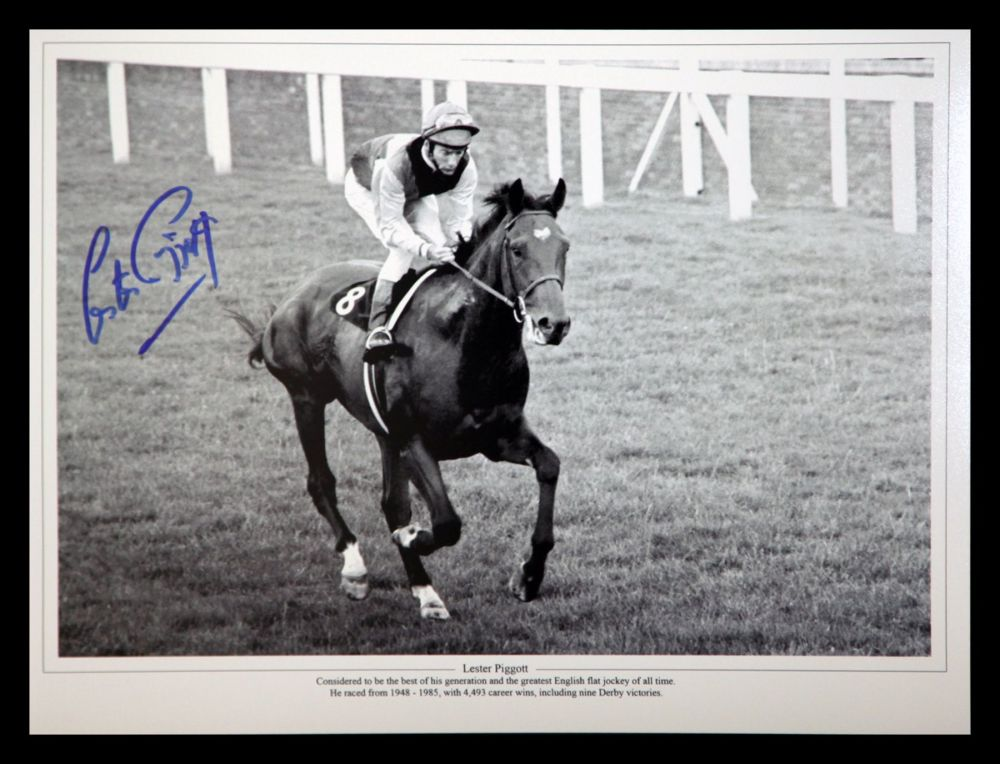 Lester Piggott And Nijinsky Signed Horse Racing  Photograph : C