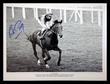 Lester Piggott And Nijinsky Signed Horse Racing  Photograph : C