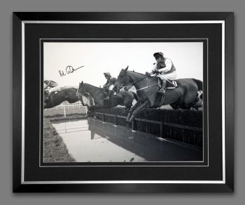 Peter Scudamore Signed And Framed Large Photograph