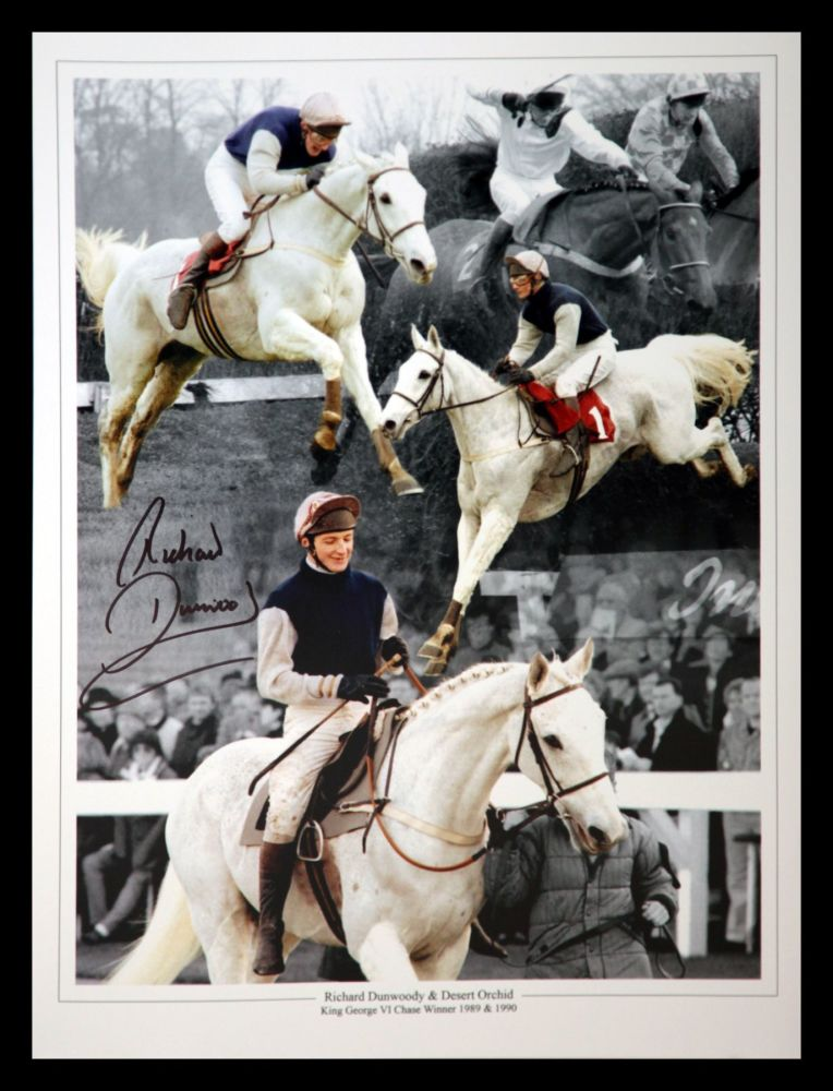 Richard Dunwoody  And Desert Orchid  Signed  12x16 Photograph