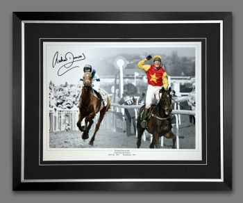 Richard Dunwoody And One Man Signed And Framed 12x16 Photograph