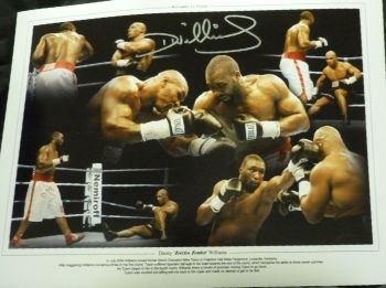 Danny Williams Signed 12x16 Boxing Montage