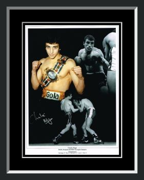 Charlie Magri Signed And Framed Boxing Photograph