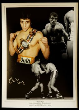 Charlie Magri Signed Boxing Photograph