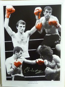 Charlie Magri Signed Boxing Montage