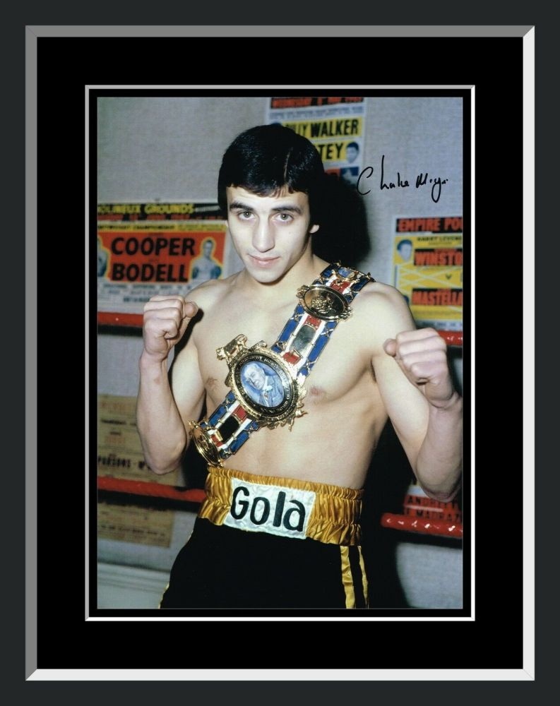 Charlie Magri Signed And Framed Boxing Photograph : A