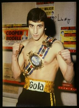 Charlie Magri Signed  Boxing Photograph : A