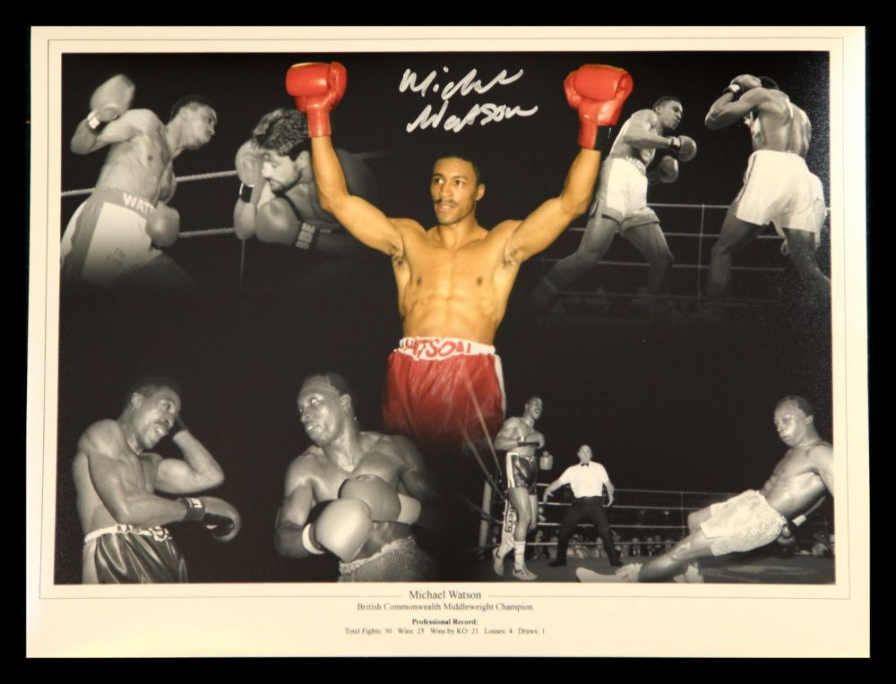 Michael Watson Hand Signed Boxing Montage