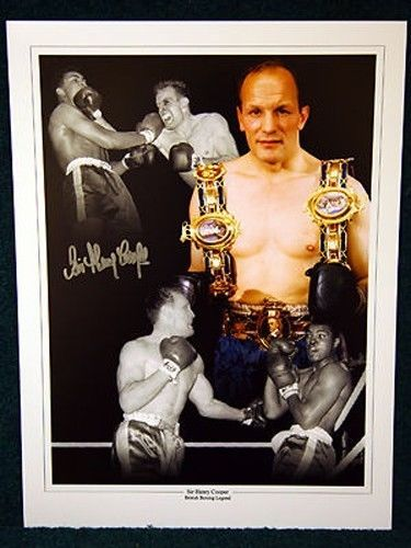Henry cooper Signed 12x16  Montage