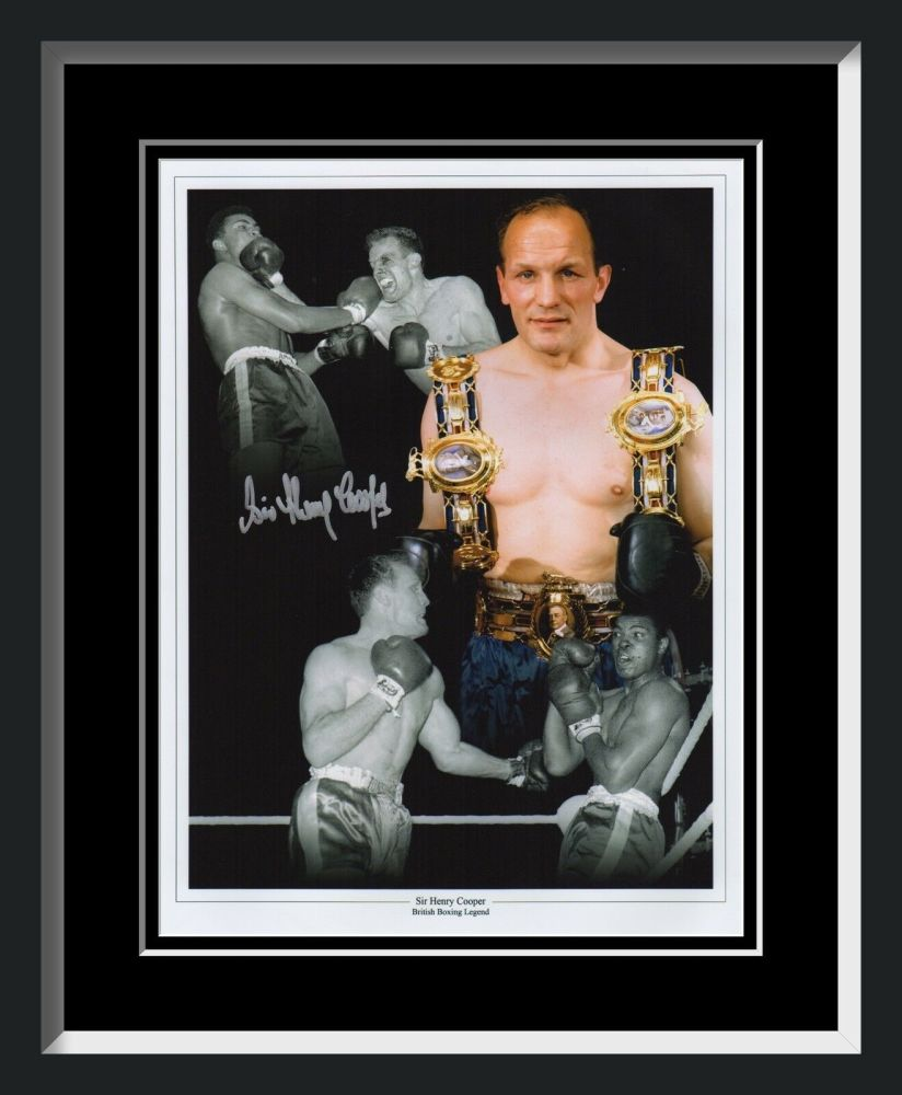 Henry cooper Signed And Framed 12x16  Montage