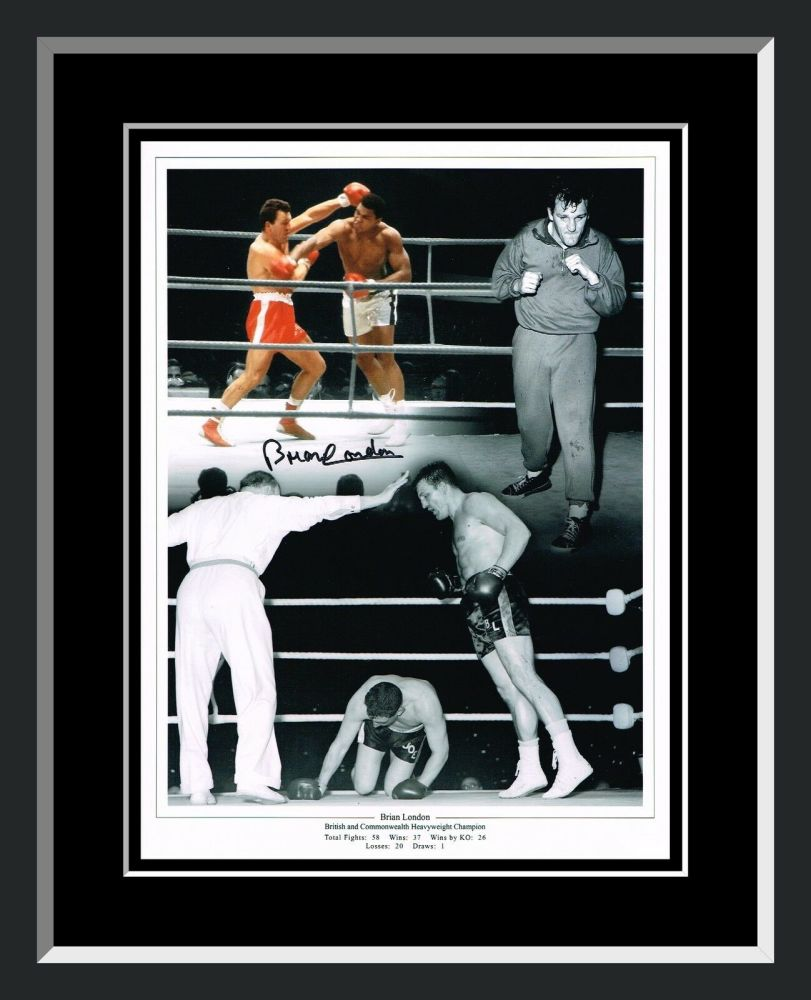 Brian London Boxing  Signed And Framed 12x16 Photograph