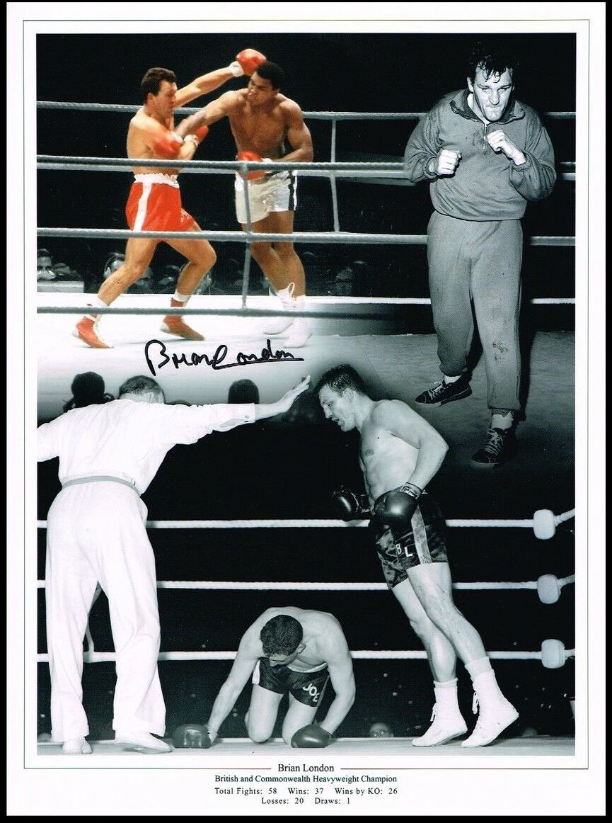 Brian London Boxing  Signed  12x16 Photograph