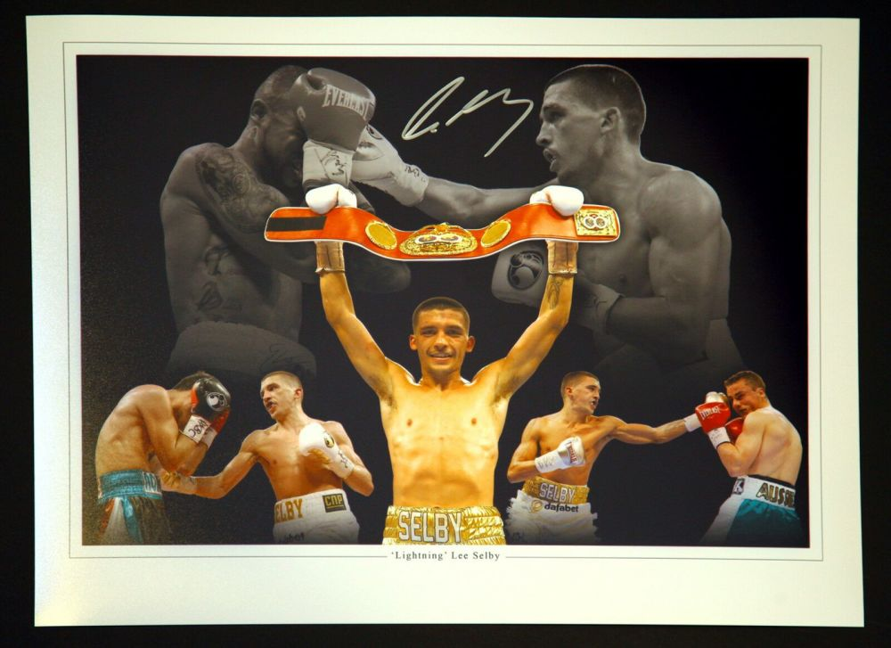 Lee Selby Signed 12x16 Boxing Montage.