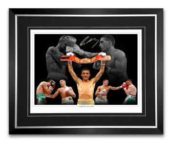 Lee Selby Signed And Fra,ed 12x16 Boxing Montage.