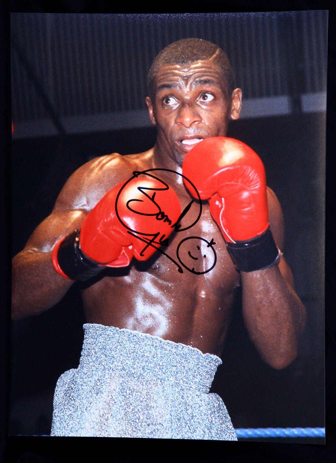 Herol Bomber Graham Signed 12x16 Boxing Photograph : B