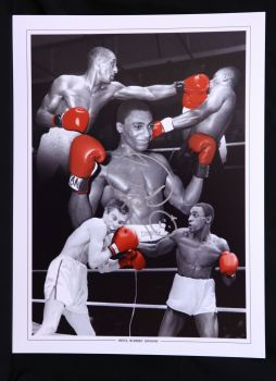 Herol Bomber Graham Signed 12x16 Boxing Photograph Montage