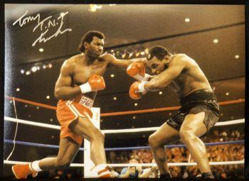 Tont Tnt Tucker Vs  Mike Myson 12x16 Signed Full Colour Boxing Photogrph