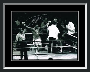 Larry Holmes Signed And Framed Boxing Photograph : B