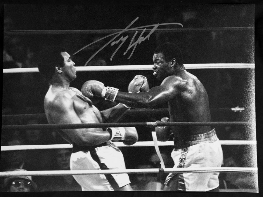 Larry Holmes VS Ali  Signed  Boxing Photograph