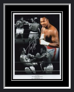 Larry Holmes Signed And Framed Boxing Montage