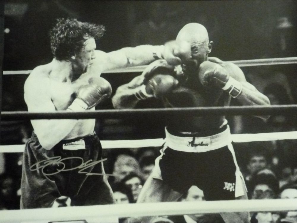 Tony Sibson Dual Signed Boxing 12x16 Photograph : A
