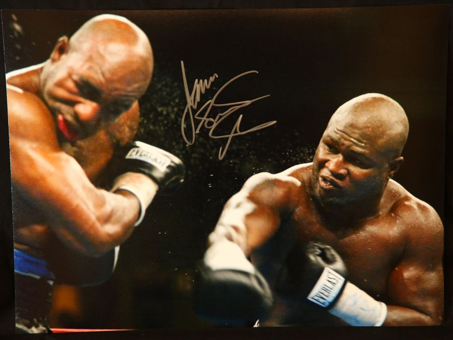 James Toney Signed Boxing 12x16 Photograph : B