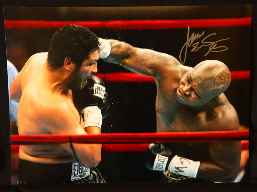 James Toney Signed Boxing 12x16 Photograph : A