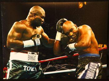James Toney Signed Boxing 12x16 Photograph : D