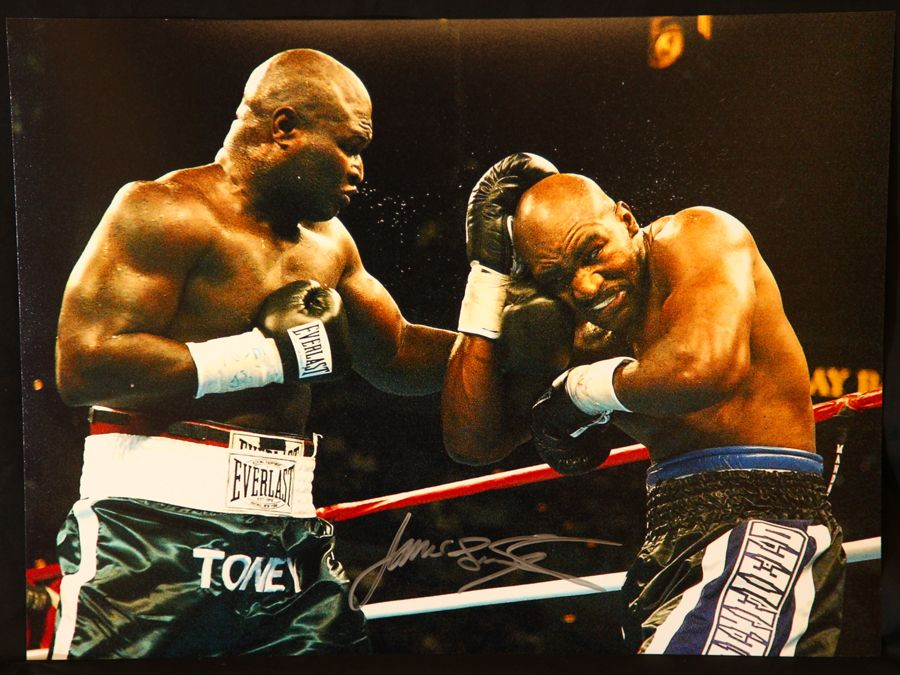 James Toney Signed Boxing 12x16 Photograph : D