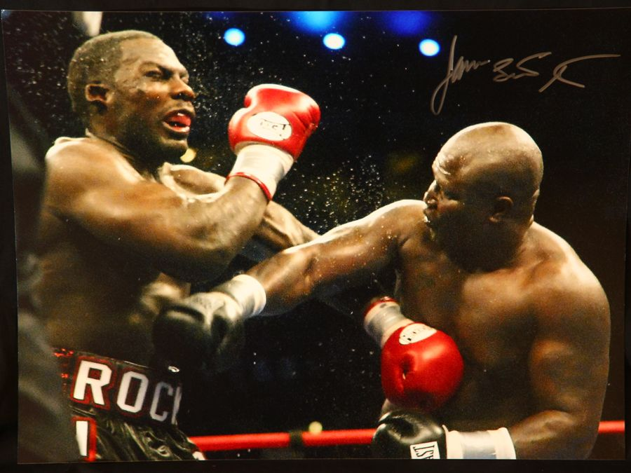 James Toney Signed Boxing 12x16 Photograph : C
