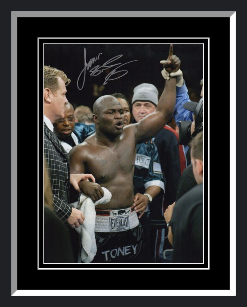 James Toney Signed And Framed Boxing 12x16 Photograph : E