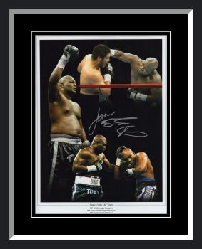 James Toney Signed And Framed Boxing 12x16 Montage