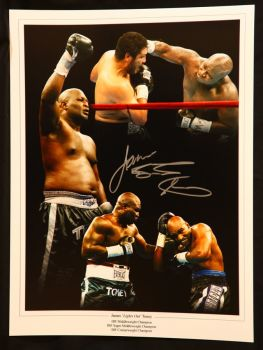 James Toney Signed Boxing 12x16 Montage