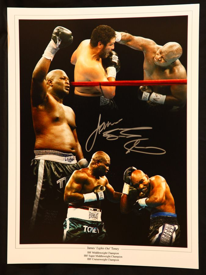 James Toney Signed Boxing 12x16 Montage