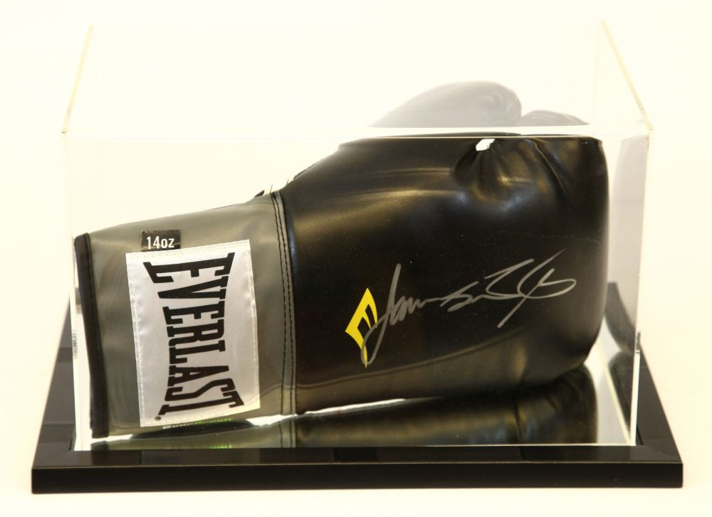 James Toney Signed Black Everlast Boxing Glove Presented In An Acrylic Case