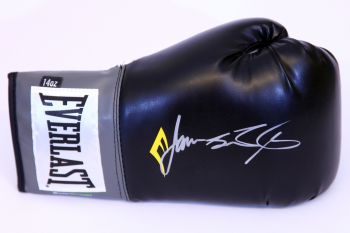 James Toney Signed Black Everlast Boxing Glove