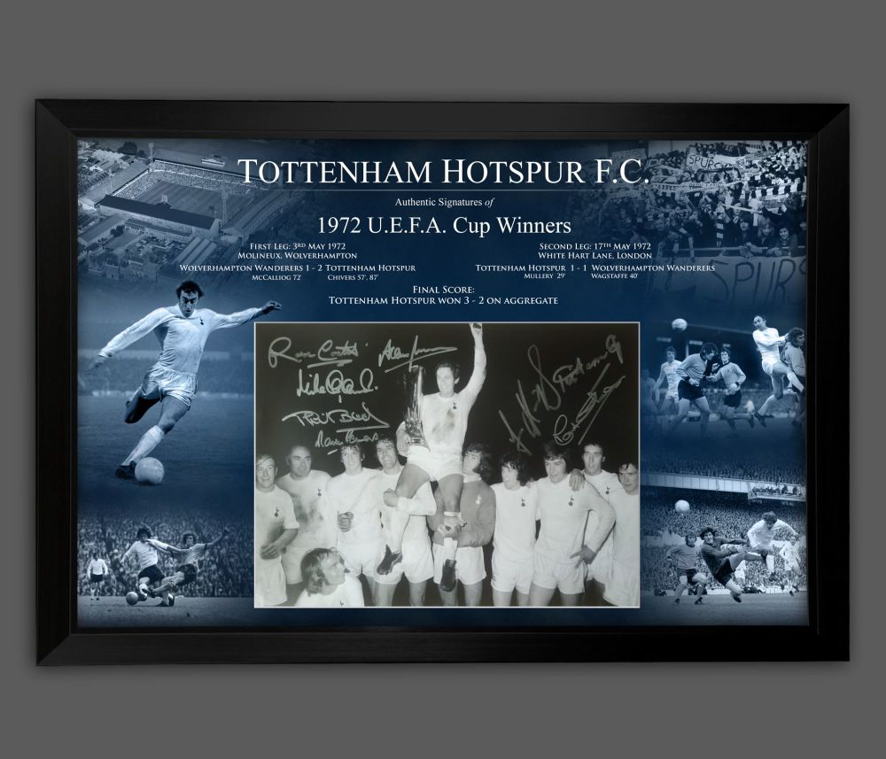 Tottenham Hotspurs 1972  Signed And Framed 12x16  Football  Photograph In
