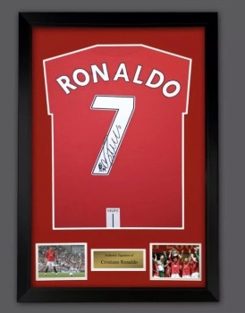 Cristiano Ronaldo Hand Signed  Manchester  United Football Shirt In A Frame Presentation