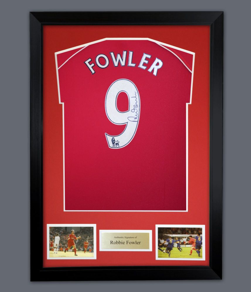 Robbie Fowler  Liverpool Signed Football Shirt In A Framed Presentation :