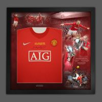 Wayne Rooney  Champions League Front Signed Signed Manchester United Football Shirt In Framed Picture Presentation
