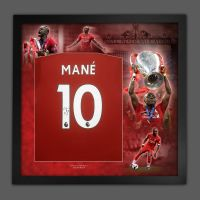 Sadio Mané Hand Signed  Liverpool Fc Football Shirt In Framed Picture Presentation