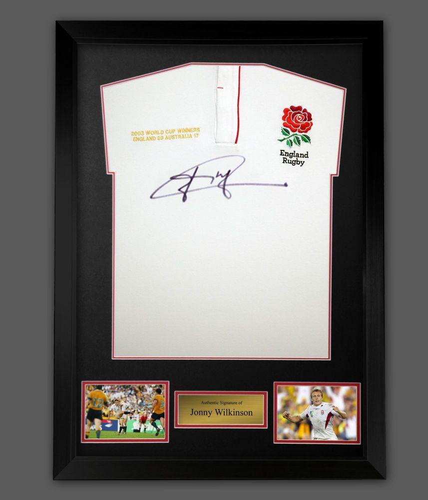 Jonny Wilkinson England Rugby Signed Shirt In A Framed Presentation : A :