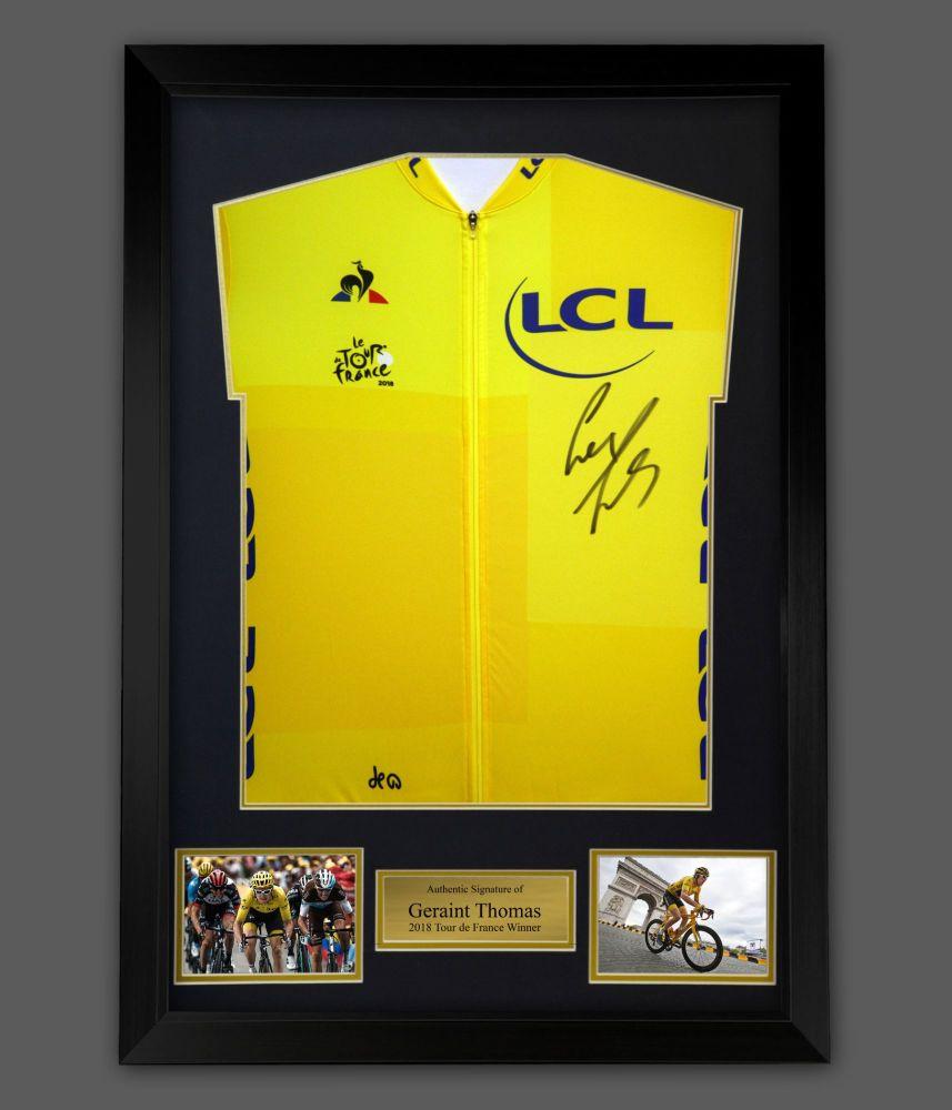 Geraint Thomas Tour De france Signed  Shirt In A Framed Presentation : Sta