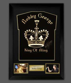 Bobby George King Of The Bling Hand Signed Shirt In A Framed Presentation