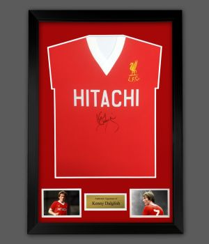 Kenny Dalglish  Signed Liverpool Hitachi Football Shirt In A Framed Presentation : Star Deal