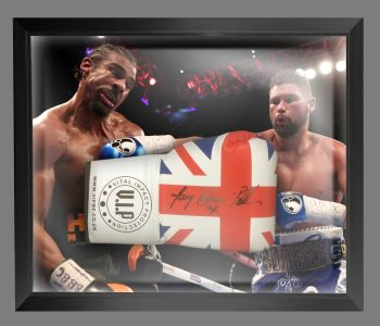 Tony Bellew  Signed Union Jack  Vip  Boxing Glove In A Dome Frame.  Full Signature  : A