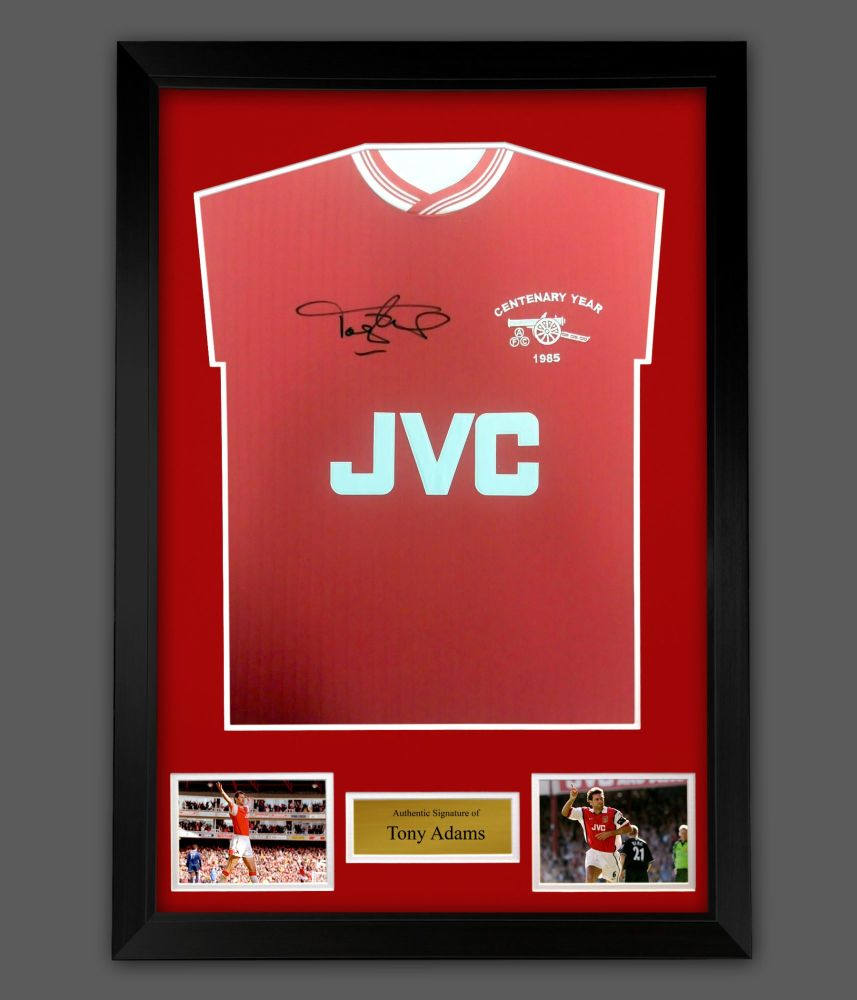 Tony Adams Arsenal Fc Signed Football Shirt In A Frame : Star Deal
