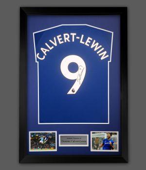 Dominic Calvert-Lewin Signed Everton Football Shirt In frame Presentation: